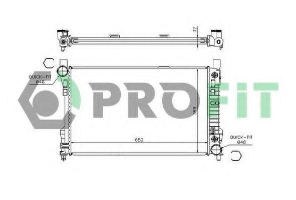 Радиатор охлаждения PROFIT PR3567A1