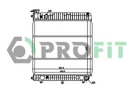 Радиатор охлаждения PROFIT PR 3568A1