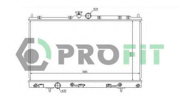 Радиатор охлаждения PROFIT PR4010A1