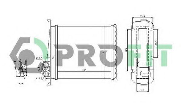 Радиатор отопителя салона PROFIT PR4525A1