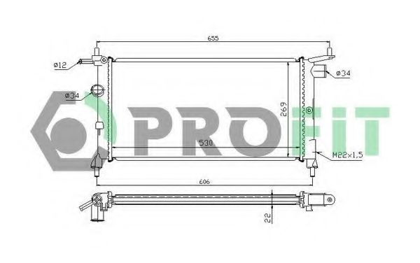 Радиатор охлаждения PROFIT PR5018A2