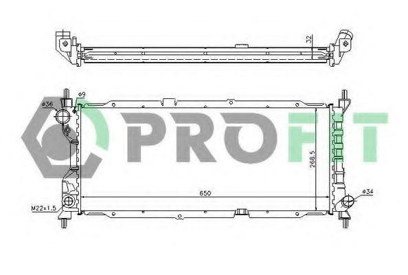 Радиатор охлаждения PROFIT PR5018A3