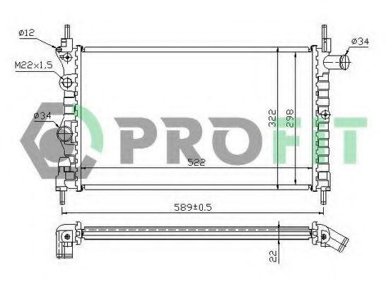 Радиатор охлаждения PROFIT PR5049A1