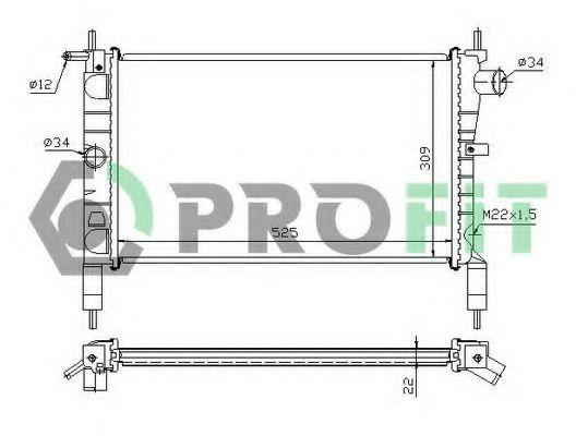 Радиатор охлаждения PROFIT PR5050A2