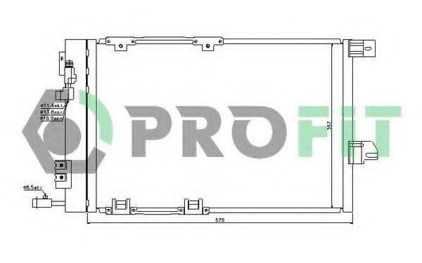 Радиатор кондиционера PROFIT PR5050C1