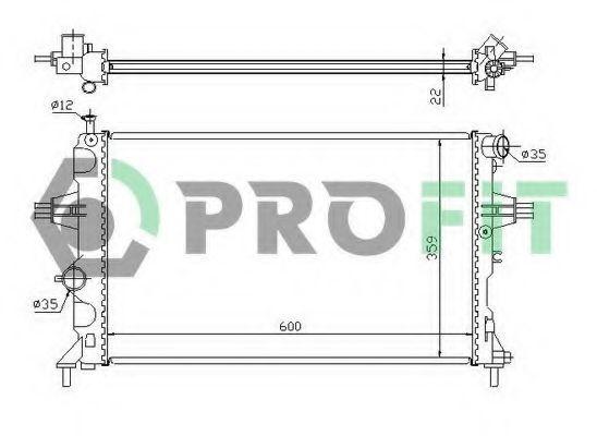 Радиатор охлаждения PROFIT PR5051A1