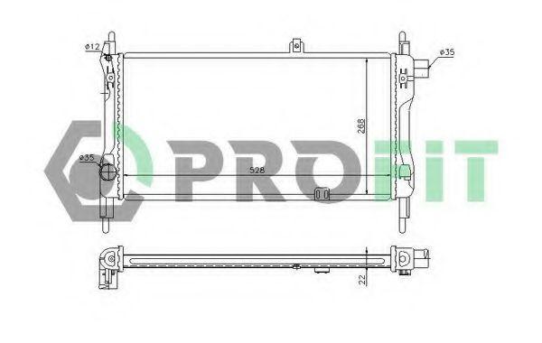 Радиатор охлаждения PROFIT PR5052A1
