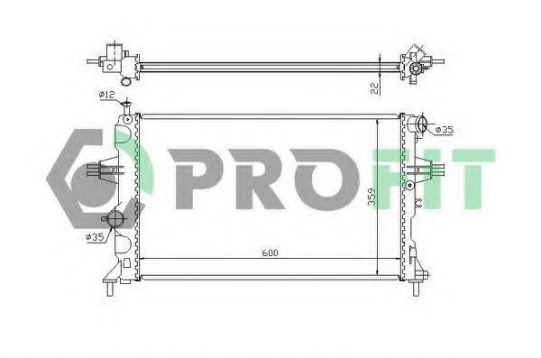 Радиатор охлаждения PROFIT PR5053A1