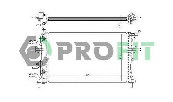 Радиатор охлаждения PROFIT PR5054A1