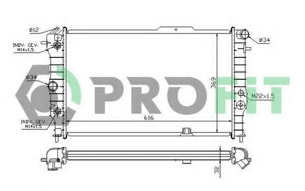 Радиатор охлаждения PROFIT PR5076A3