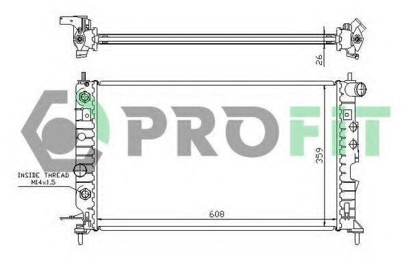 Радиатор охлаждения PROFIT PR5077A2