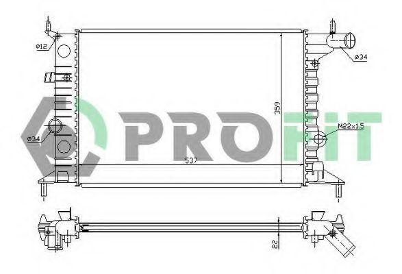 Радиатор охлаждения PROFIT PR5077A3
