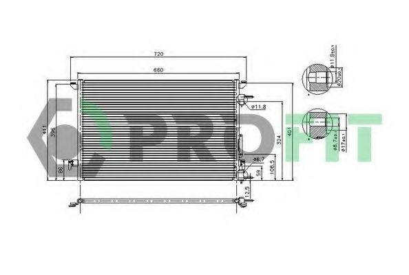 Радиатор кондиционера PROFIT PR 5081C1
