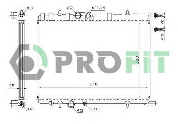 Радиатор охлаждения PROFIT PR 5514A1