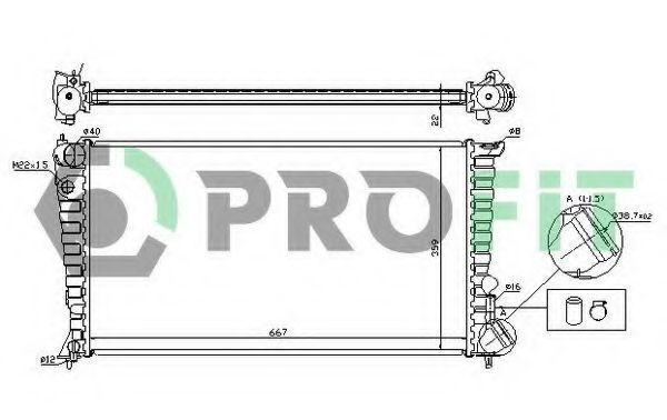 Радиатор охлаждения двигателя PROFIT PR 5560A1