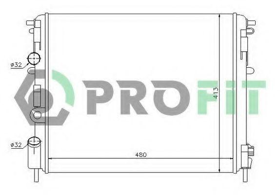 Радиатор охлаждения PROFIT PR6032A1