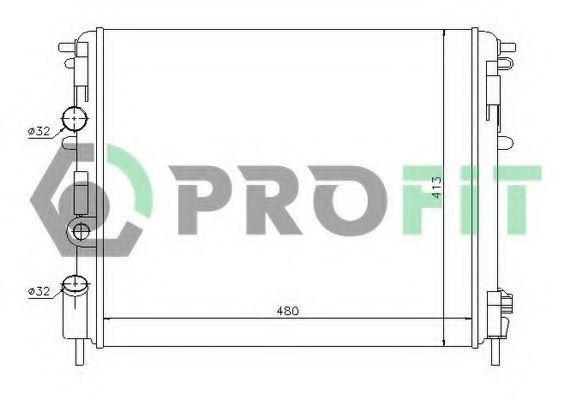 Радиатор охлаждения PROFIT PR 6037N3