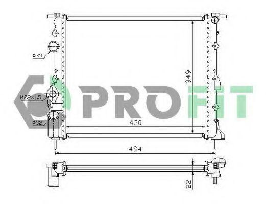 Радиатор охлаждения PROFIT PR 6042A1