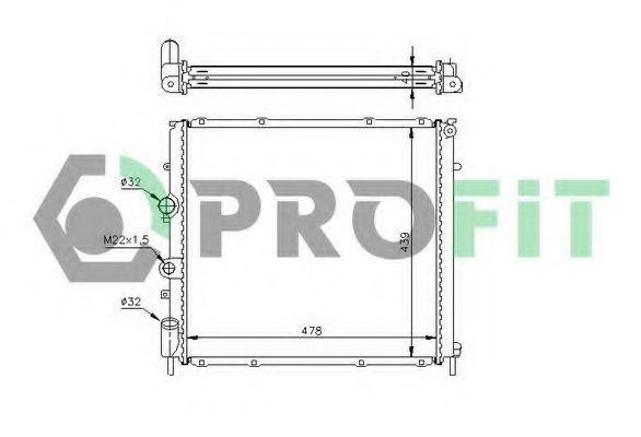 Радиатор охлаждения PROFIT PR6046A1