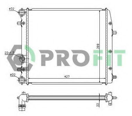 Радиатор охлаждения PROFIT PR6402A1