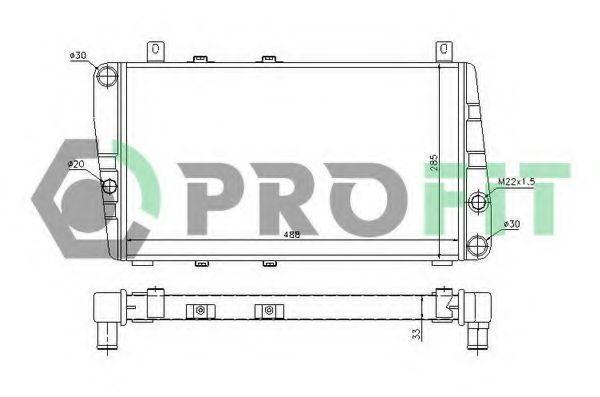 Радиатор охлаждения PROFIT PR9505A1