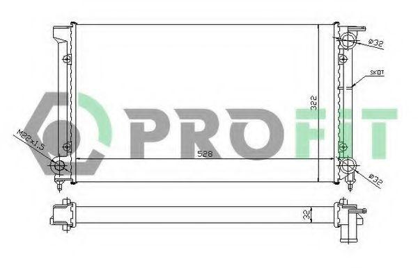 Радиатор охлаждения PROFIT PR9521A3