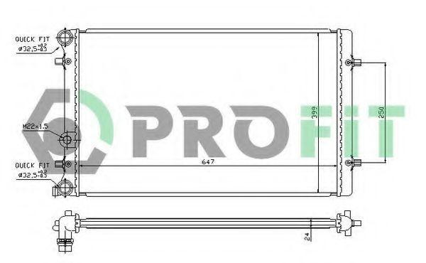 Радиатор охлаждения PROFIT PR9523A2