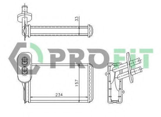 Радиатор отопителя салона PROFIT PR9537N1
