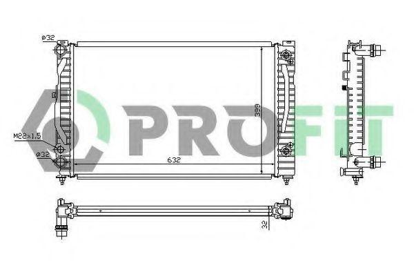 Радиатор охлаждения PROFIT PR9539A1