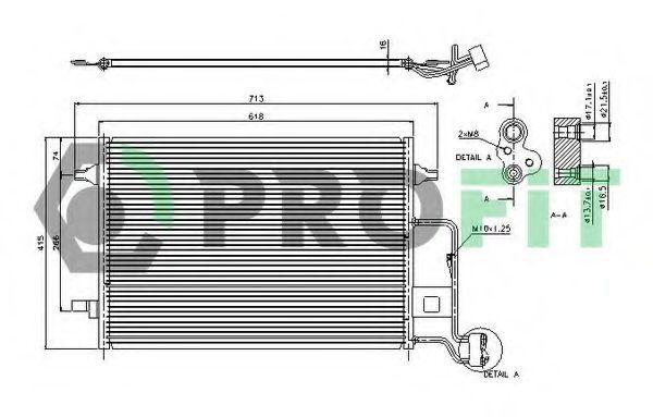 Конденсор кондиционера PROFIT PR9540C1