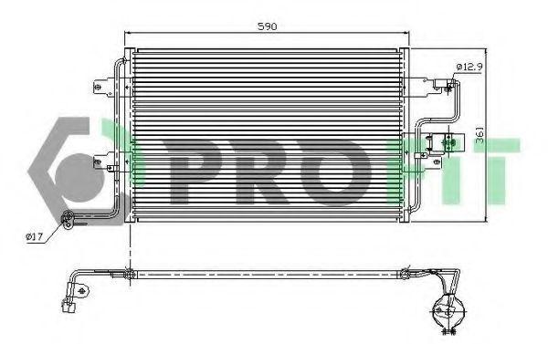 Конденсор кондиционера PROFIT PR9545C1