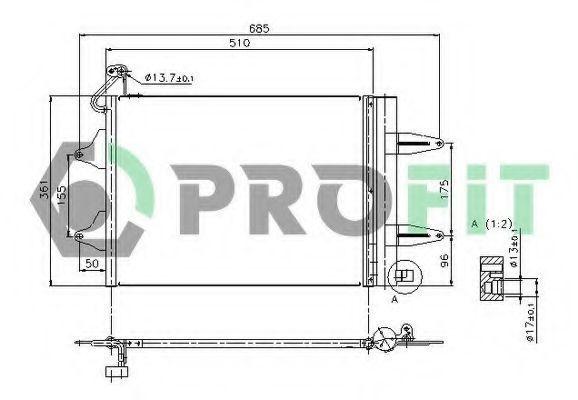 Конденсор кондиционера PROFIT PR9550C1