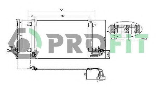 Конденсор кондиционера PROFIT PR9558C1