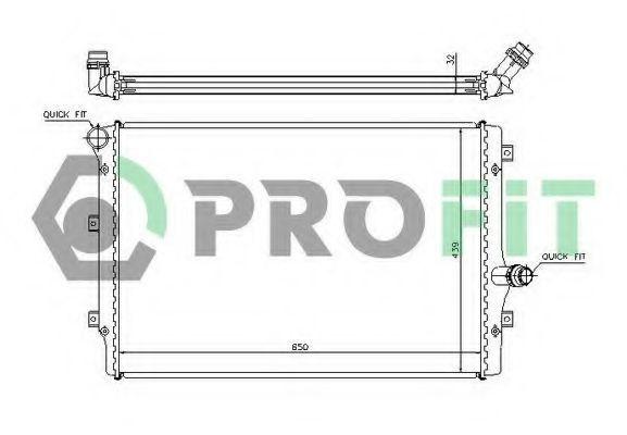 Радиатор охлаждения PROFIT PR9569A2