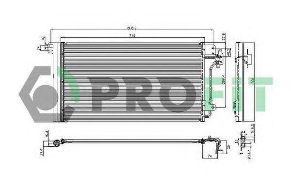 Радиатор кондиционера PROFIT PR 9572C1