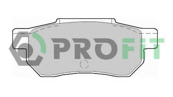 Колодки тормозные задние PROFIT 50000621