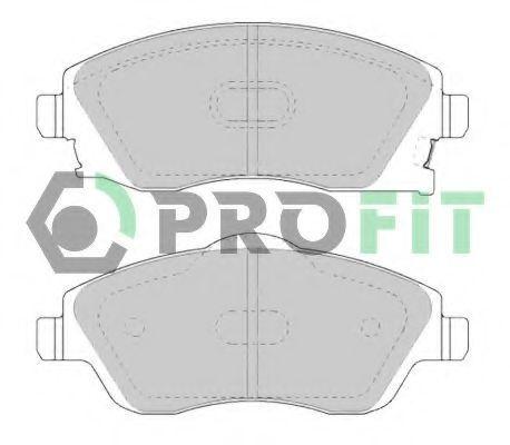 Колодки тормозные передние PROFIT 50001424