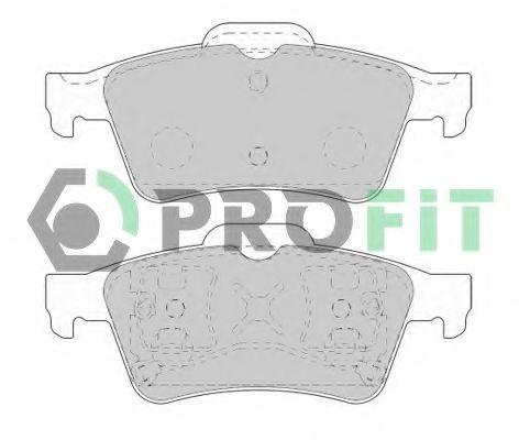 Колодки тормозные задние PROFIT 50001540