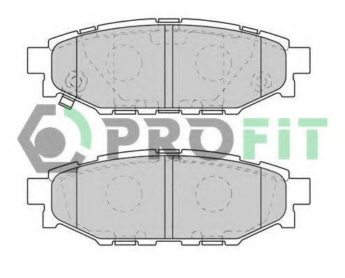 Колодки тормозные задние PROFIT 5000-1947