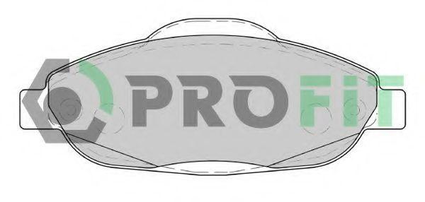 Колодки тормозные передние PROFIT 50004003