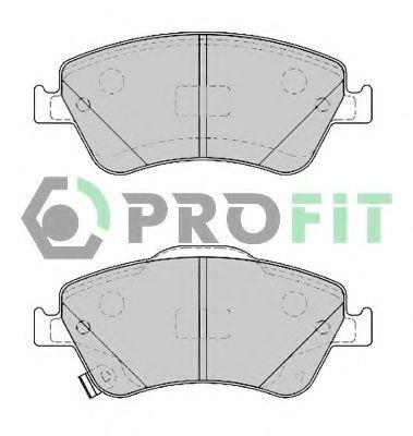 Колодки тормозные передние PROFIT 50004046