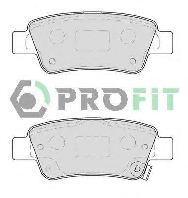 Колодки тормозные задние PROFIT 50004233