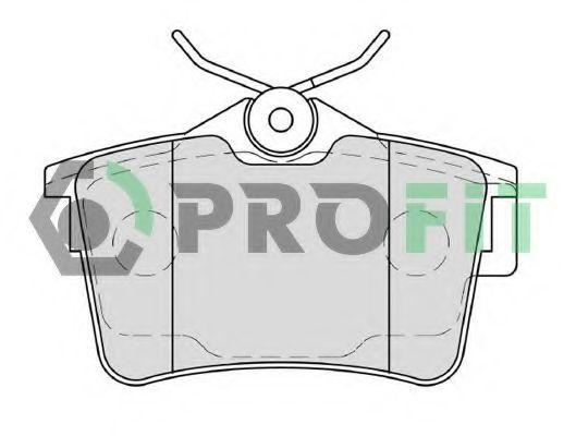Колодки тормозные задние PROFIT 50004250