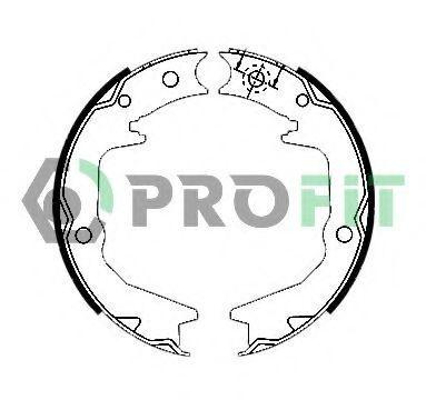 Колодки тормозные барабанные PROFIT 50010011  - купить со скидкой