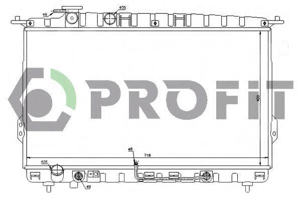 Радиатор охлаждения PROFIT PR1807A2