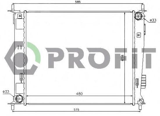 Радиатор охлаждения PROFIT PR2908A2