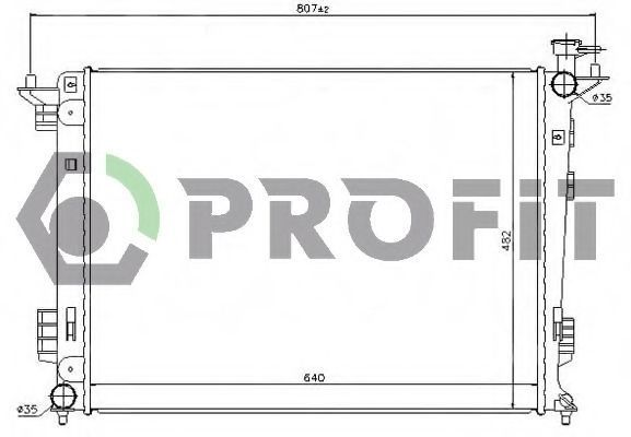 Радиатор охлаждения PROFIT PR2909A2