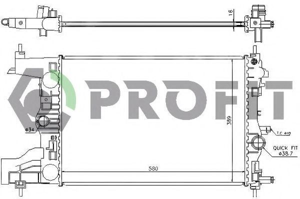 Радиатор охлаждения PROFIT PR5056A1