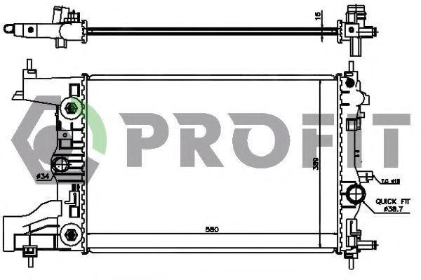 Радиатор охлаждения PROFIT PR 5056A2