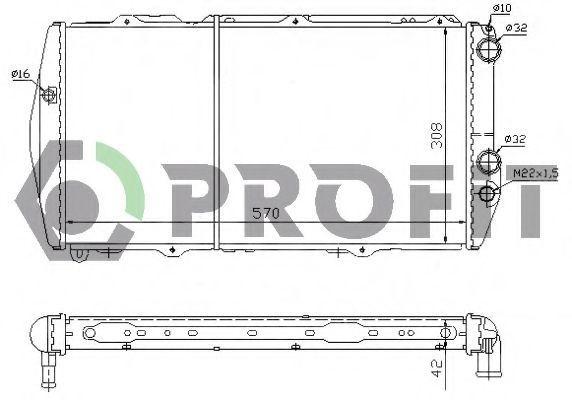 Радиатор охлаждения PROFIT PR0012A6